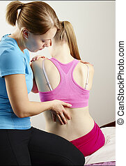 Osteopathy treatment, the professional masseur and his...