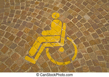 Parking reserved for handicapped