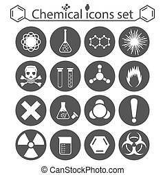 Chemical icons set