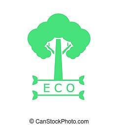 Icon of green tree on white