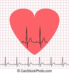 Heart icon with electrocardiogram