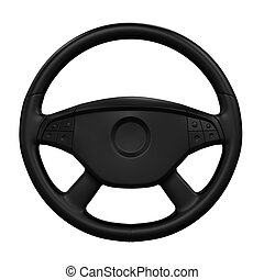 Steering Wheel Isolated - Steering Wheel isolated on white...