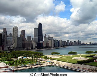 Chicago Cityscape, view North, taken from the ferris wheel...