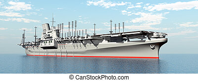 Japanese Aircraft Carrier - Computer generated 3D...