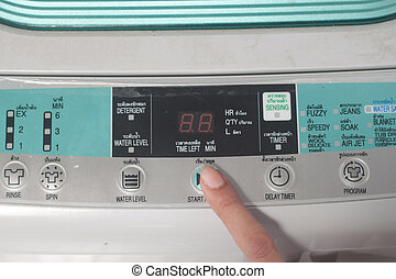 Push start button washing machine