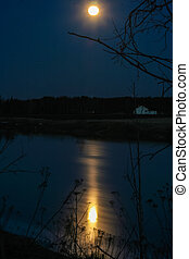 Full Moon River - The moon reflects beautifully on the river...