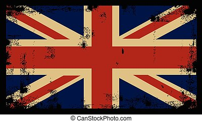 Grunge British Background 2 - Grunge British Background flag