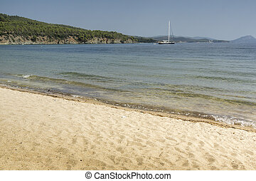 Stiladario Beach, Chalkidiki, Sithonia, Central Macedonia,...