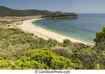 Azapiko Beach, Chalkidiki, Sithonia, Central Macedonia,...