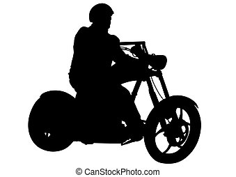 Motorcyclist whit helmet - Motorcyclist performed extreme...