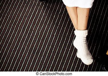 Knitted socks - Legs in knitted socks