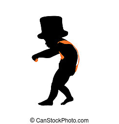New Years Illustration Silhouette - New years baby...