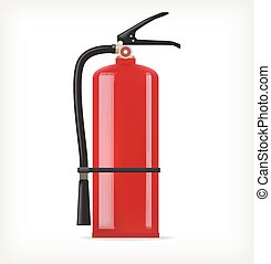 Fire extinguisher on white background. Template design