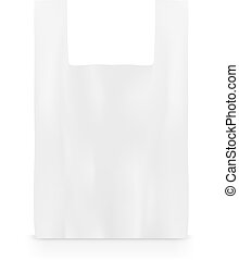 Plastic bag on white with shadow Template design