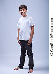 Young boy standing