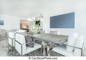 Modern apartment interior - Dining area in modern apartment