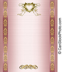 Wedding Invitation pink satin