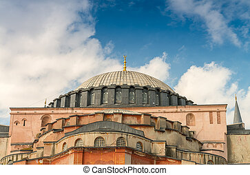 Hagia Sophia Cathedral exterior view, Istanbul.