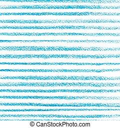 Blue crayon stripes pattern