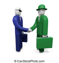Two businessmen shake hands. Concept of agreement