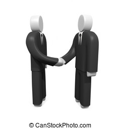 Two businessmen shaking hands Concept of reaching agreement