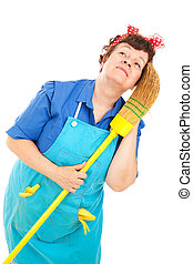 Cleaning Lady - Daydreaming - Cleaning lady daydreaming...