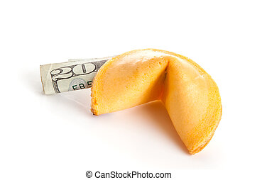 US Chinese Partnership - Chinese fortune cookie with a US 20...