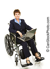 Disabled Businesswoman - Serious - Serious buisinesswoman in...