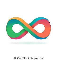 Colorful infinity symbol. Conceptual icon. Logo template....