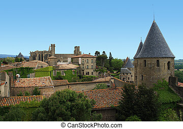 Carcassonne - View on the city of Carcassonne, France