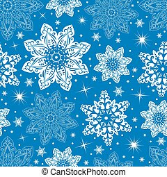 Seamless snowflake pattern - Illustration of seamless...