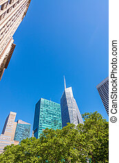 Buildings over Bryant Park - New York.