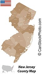 New Jersey County Map - A large and detailed map of the...