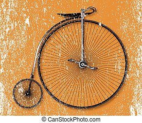 Penny Farthing Sepia Grunge - Old fashioned grunge sepia...