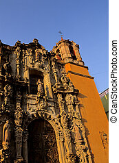 Temple de San Diego- Guanajuato, Mexico - Ornate facade of...
