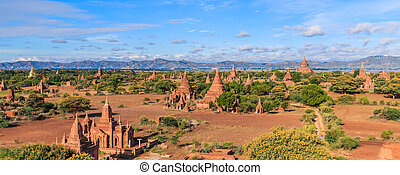 A view at Bagan old ancient temple in Bagan Myanmar , Asia