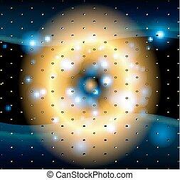 Dots light dark background