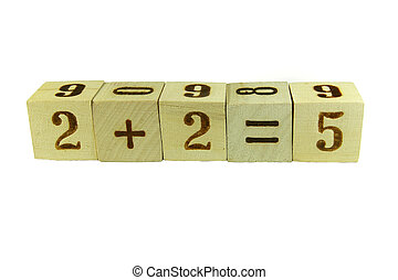 Cubes with numbers - Cubes with the numbers stacked in a...