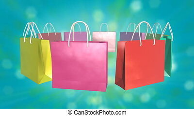 Colorful Shopping Bag on twinkle background