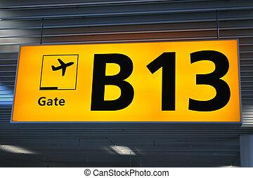 lotnisko, Terminal, znak