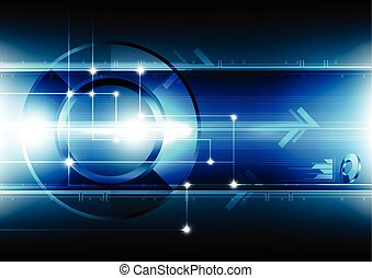 abstract technology networking background
