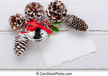 Christmas decoration on wood - Christmas decoration, and...