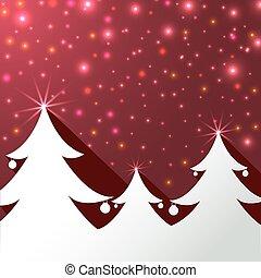 fundo, árvore, Natal, cartão, Saudação