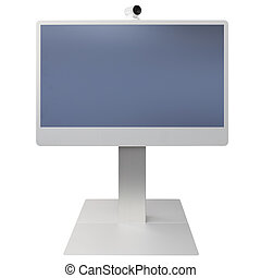 Video Conference isolated on white background