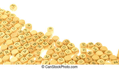 letters - bunch of small dices with latin letters