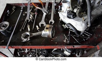 garage tools - automobile repair shop