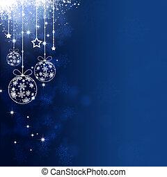 Blue Xmas Holiday Balls - abstract holiday decoration...