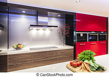 Modern kitchen - Luxurious new kitchen with modern...