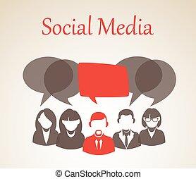 Social media forum illustration