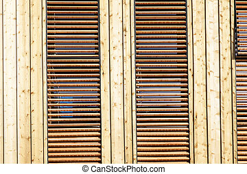 wooden facade of a house